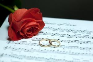 Enhorabuena en boda.